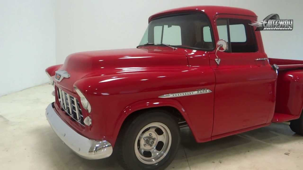 1955 chevy truck for sale youtube. Black Bedroom Furniture Sets. Home Design Ideas