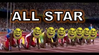 Usain Bolt running but every time he takes a step it's ALL STAR