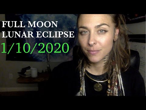 FULL MOON LUNAR ECLIPSE - ITS FINALLY HERE!!!! PLUTO SATURN CONJUNCTION OF JANUARY 2020