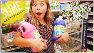 24 HRS OVERNIGHT MAKING SLIME IN THE SLIME STORE!!