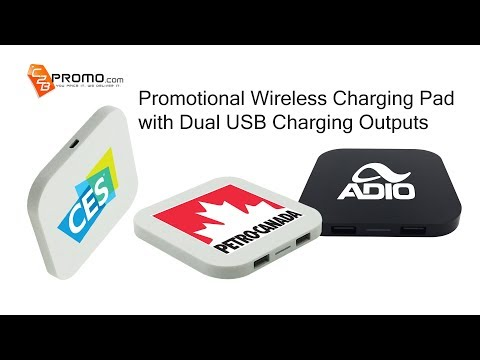 Promotional Wireless Chargers with Dual USB Charging Ports