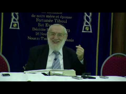 Cours du Grand Rabbin de Paris Michel Gugenheim du 25 novembre 2012