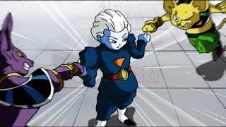 Dragon Ball Super – Gods of Destruction power levels (linear scale)