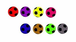 Learn Colors with Surprise Soccer Balls - Colors for children kids
