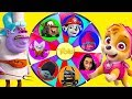 Trolls Movie Mega Wheel Game with Paw Patrol and Moana Surprise | Ellie Sparkles