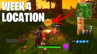 """Search between a Station, Soccer Pitch, and Stunt Mountain"" Location (Fortnite Season 5 Week 4)"