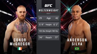 Conor McGregor vs. Anderson Silva (EA sports UFC 3) - CPU vs. CPU