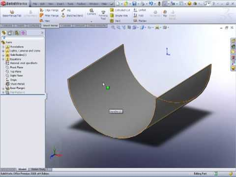 Solidworks Rolled Sheetmetal Youtube