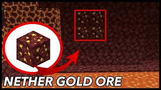 Where To Find Nether Gold Ore In Minecraft?