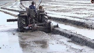 đắp bờ bằng máy cày  quá đẹp /tractor