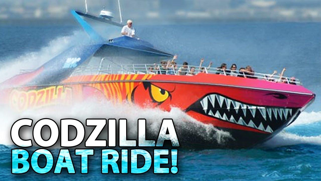 Insane Codzilla Boat Ride Youtube