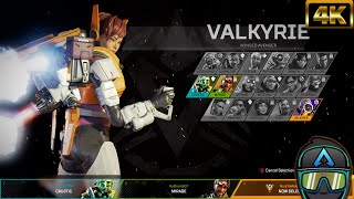 """New Apex Legends Valkyrie Legendary Titan Tested Select Screen Animation! """"#4K"""