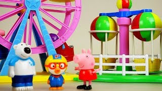 Amusement park and baby doll toys play