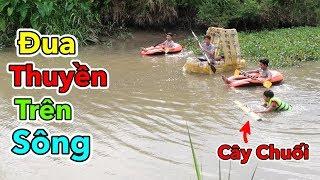 Lâm Vlog - Giải Đua Thuyền Trên Sông Cấp Xóm | Boat Racing