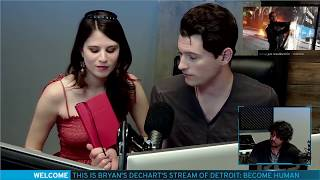 Bryan Dechart aka Connor Plays Detroit: Become Human w/ Amelia Rose Blaire - Full Stream #3