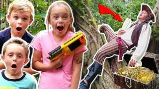 KIDS vs PIRATES! Treasure Hunt in Real Life!
