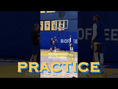 bts[9:16] Warriors up close: Klay, Steph dunk, Curry Island, Draymond, Willie Cauley-Stein @practice