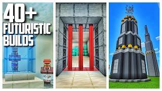40+ Futuristic Build Ideas in Minecraft from my Survival World!