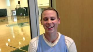 'I just remember us four shaking in our shoes,' Tulane's Danielle Blagg says of first practice in 20
