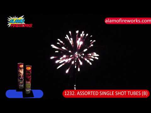 1232 Assorted Single Shot Tubes B - Alamo Fireworks