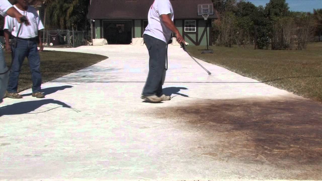 H Amp C Decorative Concrete Coatings Sherwin Williams Youtube