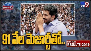Jagan leads over 91,000 majority seats in Pulivendula..