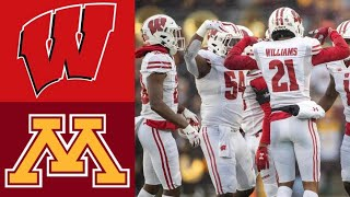 #12 Wisconsin vs #8 Minnesota Highlights   NCAAF Week 14   College Football Highlights