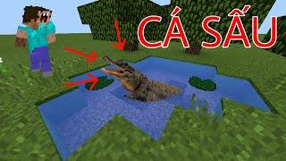 Cách Làm 1 Cái Hồ Có Cá Sấu Giết Người Chỉ Sau 5 Giây !!! (Đơn giản) - Minecraft PE