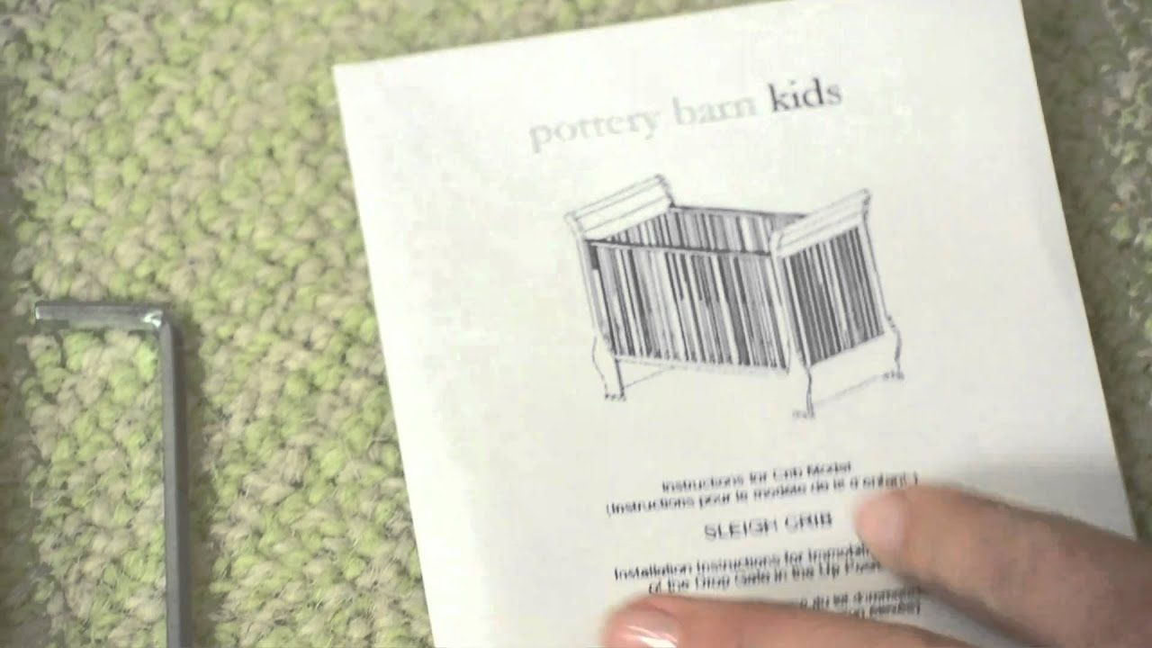 How To Install Drop Side Crib Conversion Kit A Pottery