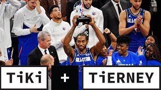 Kawhi Leonard Wins First Kobe Bryant MVP Award At The 2020 NBA All-Star Game | Tiki + Tierney