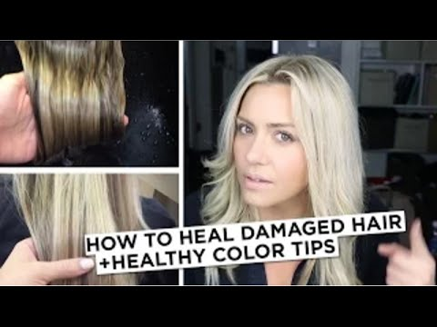 How to Heal Damaged Hair + Healthy Color Tip
