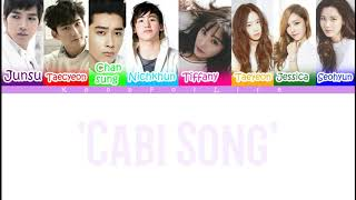 2pm & SNSD 'Cabi Song' Color Coded Lyrics [Han Rom Eng]