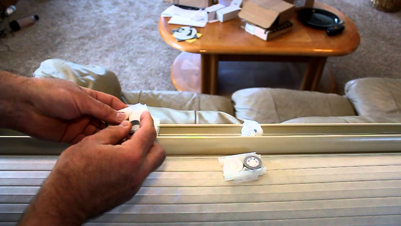 Repairing Levelor Cordless Cellular Shades Youtube