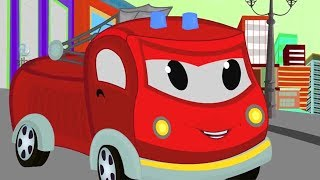 Fire Engine | Car Wash For Kids |Automatic Car Wash Videos -Toddlers | Cartoon Vehicles For Children