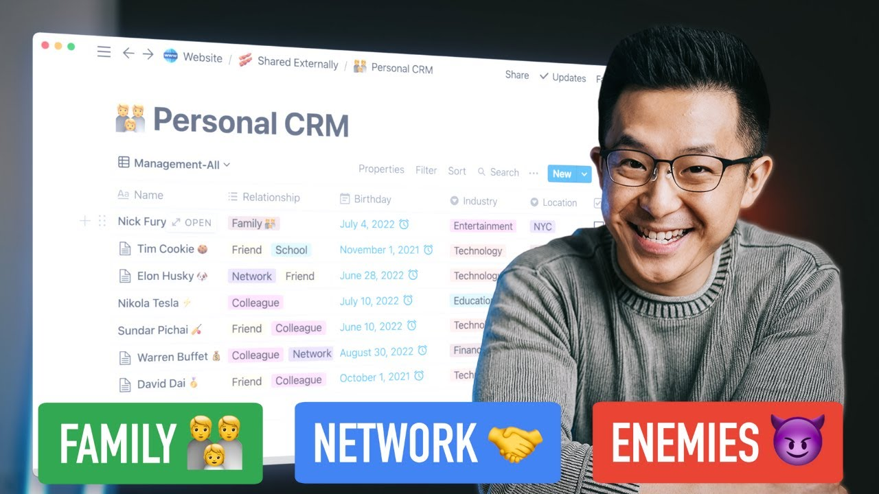Build Meaningful Relationships with a Personal CRM (template included)