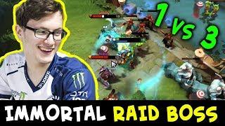 Miracle IMMORTAL RAID BOSS — 1 vs 3 on Battle Cup