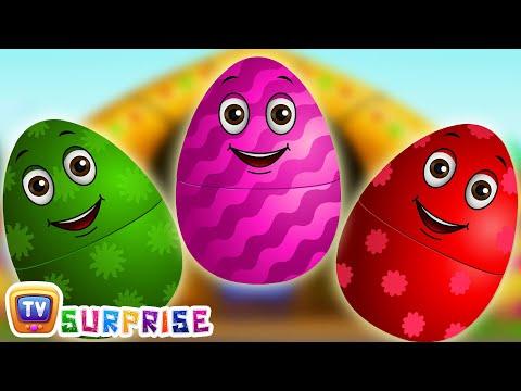 Surprise Eggs Nursery Rhymes | Old MacDonald Had A Farm | Learn Colours & Farm Animals | ChuChu TV