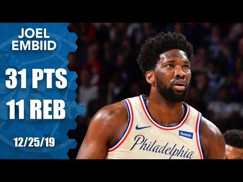 Joel Embiid wins the Christmas matchup over Giannis as Bucks fall 121-109 | 2019-20 NBA Highlights