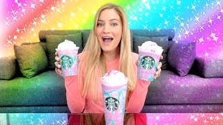 🌈 Starbucks Unicorn Frappuccino Taste Test!