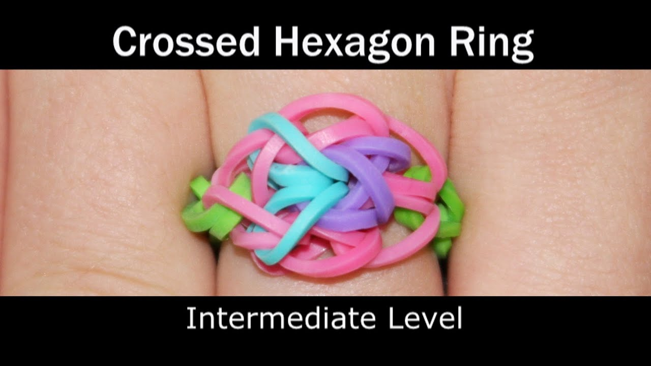 Rainbow Loom Ring Videos Youtube Diagram Crossed Hexagon