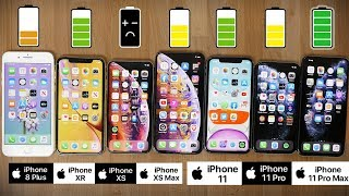 Ultimate iPhone 2019 Battery Comparison: iPhone 11 Pro Max vs 11 Pro, 11, XS Max, XS, XR and 8 Plus
