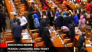 Demokrat 'Walkout' Dari Sidang Paripurna DPR Soal RUU Pilkada