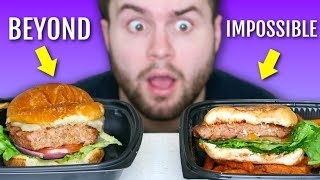 Meat eater tries IMPOSSIBLE burger and BEYOND burger... TASTE TEST