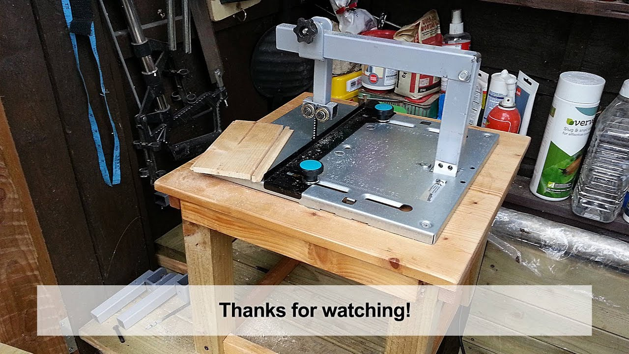 Home Made Diy Jigsaw Table With Blade Guide Youtube