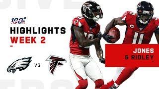 Julio & Ridley Combine for 211 Rec. Yds & 3 TDs! | NFL 2019 Highlights