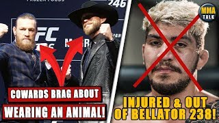 PETA SLAMS Conor McGregor & Cerrone, UFC 246 salaries REVEALED, Dillon Danis out of Bellator 238