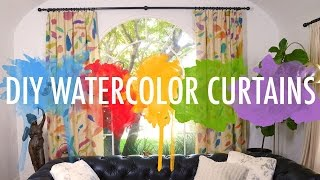 DIY Watercolor Curtains | Mr Kate