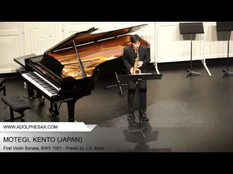 Dinant 2014 - Motegi, Kento - First Violin Sonata, BWV 1001 - Presto by J.S. Bach