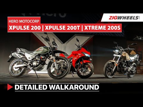 Hero XPulse 200, 200T and Xtreme 200 S Walkaround   Prices, Specs, Features and more