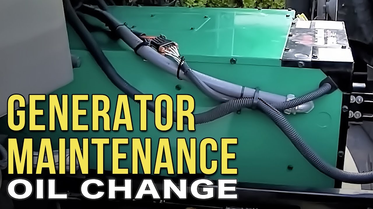 Changing The Oil In Your Onan Diesel Rv Generator Youtube